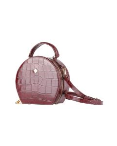 Round Croc-effect Day to Evening Bag