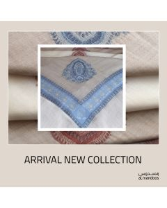 100% Cashmere Shumag in Grey Color With Blue Embroidery