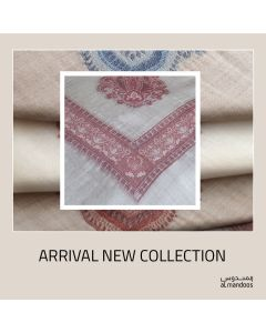 100% Cashmere Shumag  in Light Brown Color  With Red Embroidery
