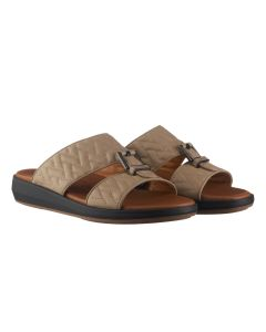 Driver Quilted Leather Sandals with Classic Buckle