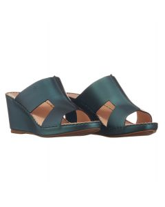 Laser-Cut Leather Sandals with Metallic Tones